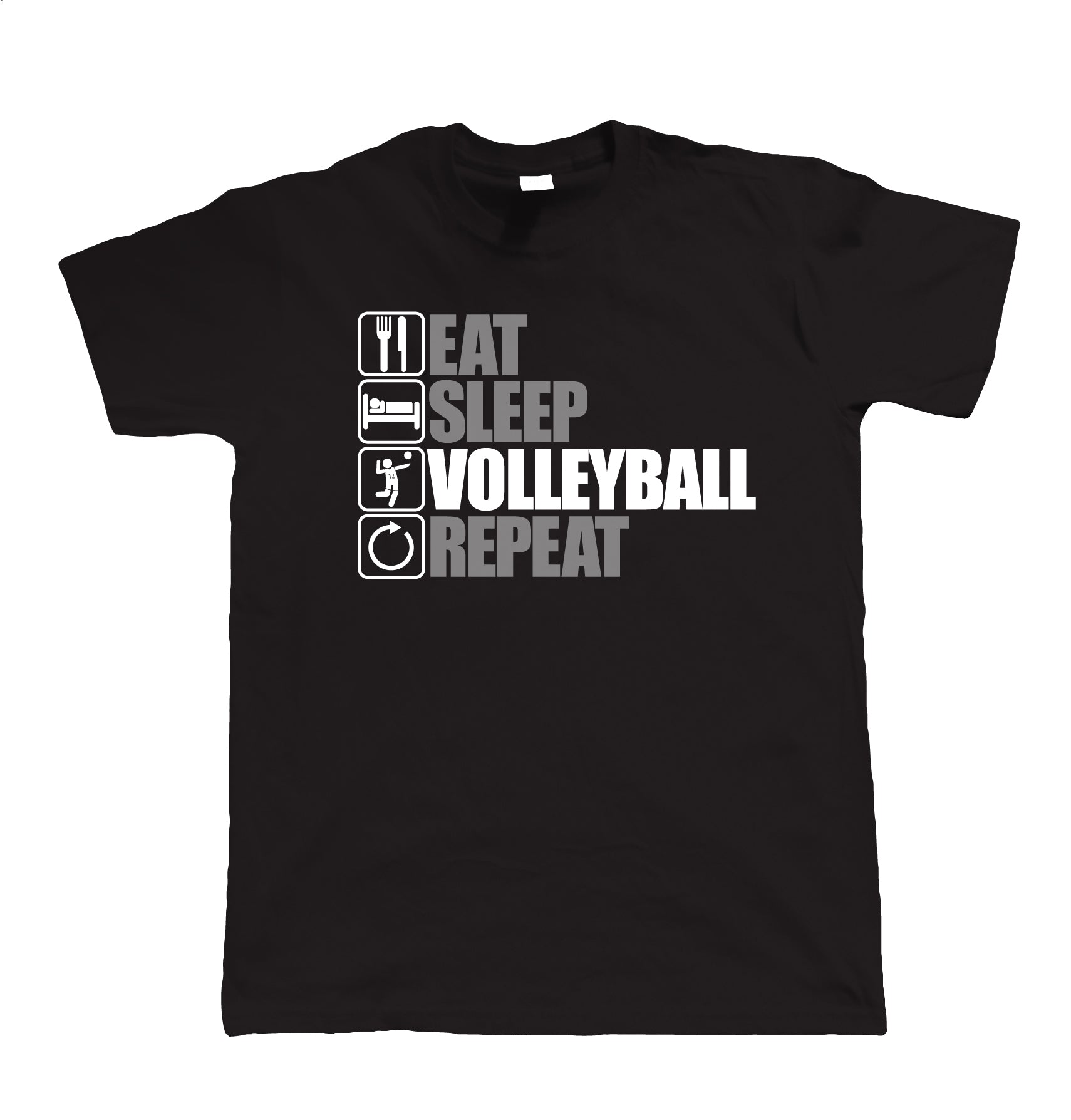 Eat Sleep Volleyball Repeat, Unisex T Shirt