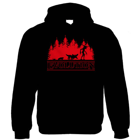 Evolution Of The Demogorgon Hoodie | Action Adventure Horror Sci-Fi Series Binge Halloween Gaming | Upside Down DND 80s Small Town Summer | TV Inspired Gift Him Her