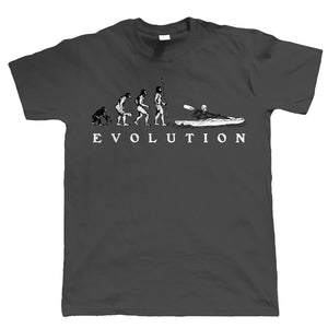 Evolution of Canoeing, Mens Funny Canoe Tshirt