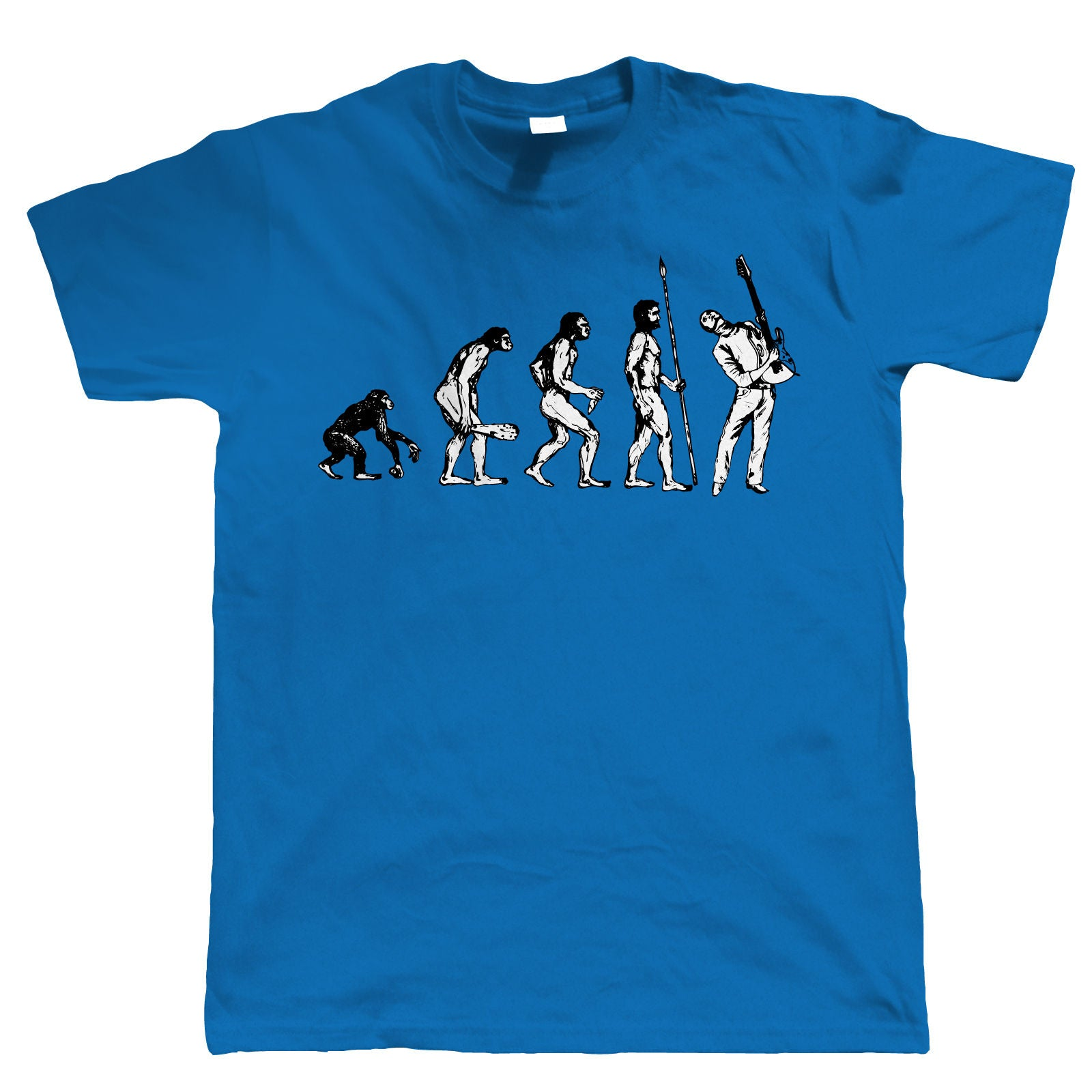 Evolution of Guitarist, Mens Funny Guitar Tshirt
