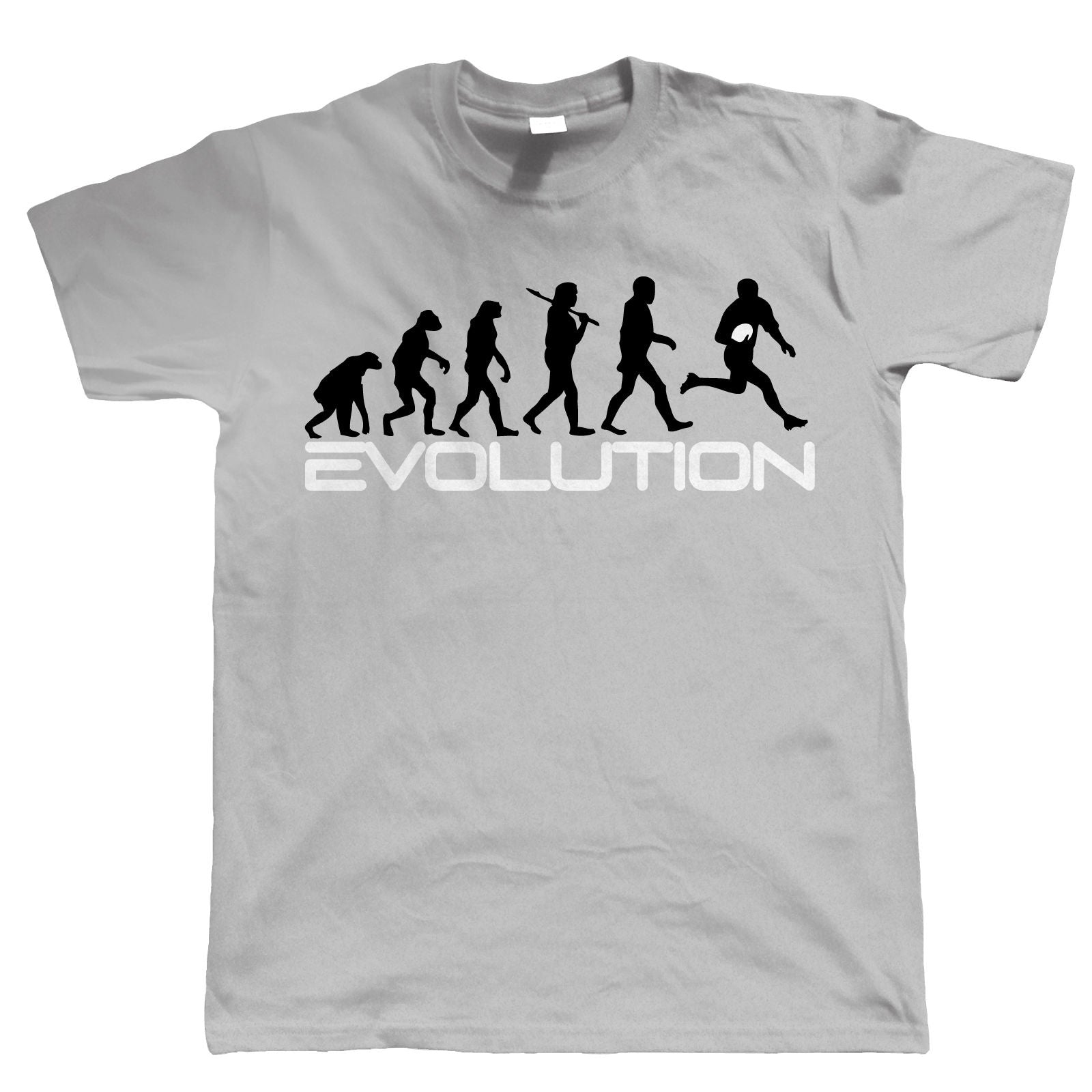 Evolution of Rugby, Mens Funny Sports T Shirt