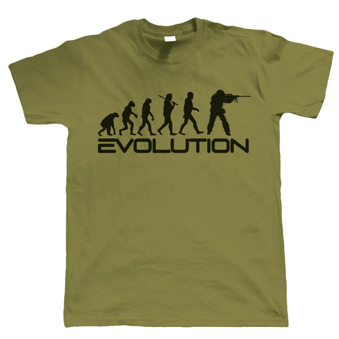 Evolution of Sniper, Mens Funny Tshirt
