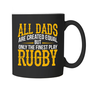 Finest Dads Play Rugby Sports Mug | Football Rugby Hockey Basketball Baseball Boxing | Ideal Top Best Special No1 Father Husband Grandad | Fathers Day Cup Gift