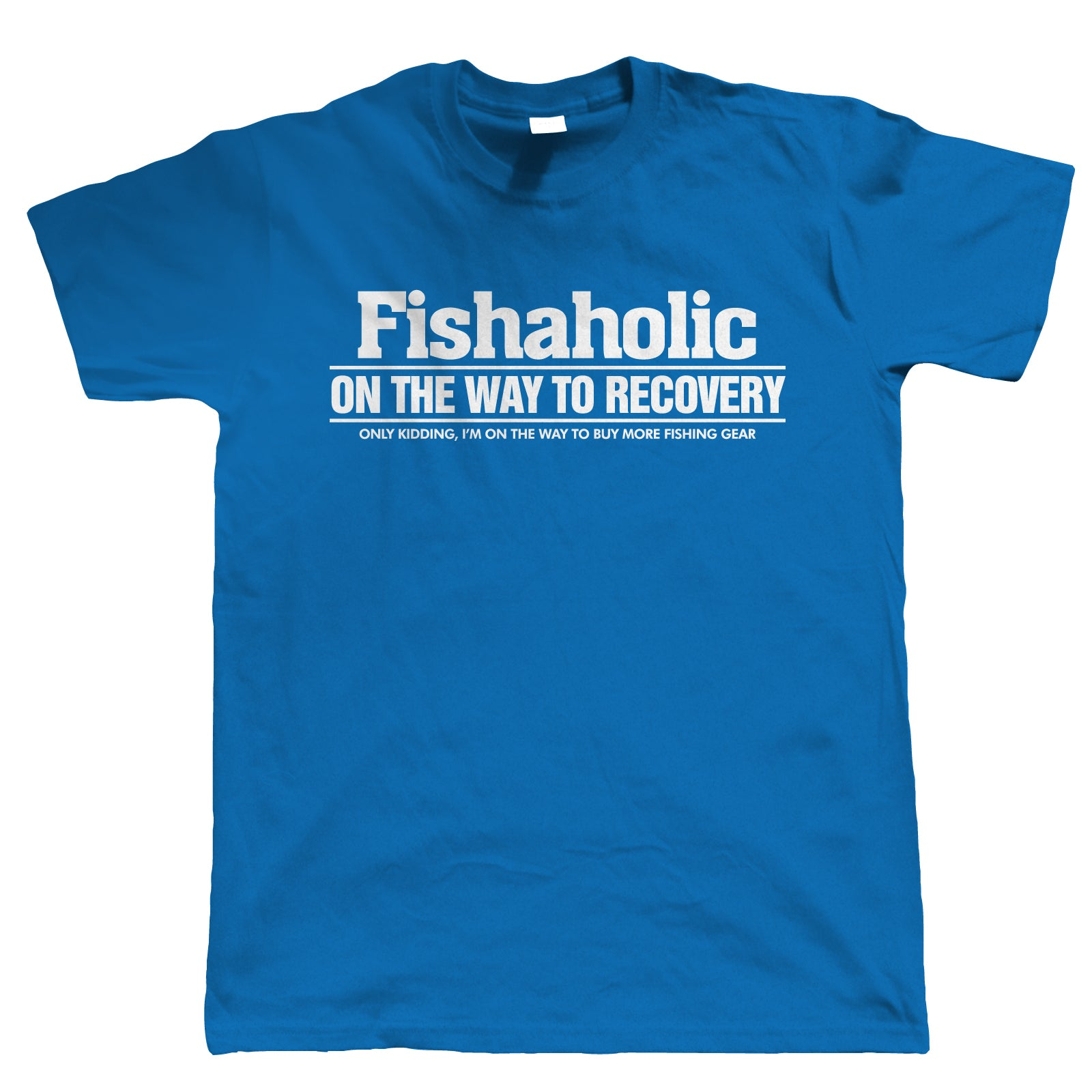 Fishaholic, Mens Funny Fishing T Shirt | Coarse Carp Sea Match Fly Specimen Tackle Fishermen Clothing Angling Angler | Cool Birthday Christmas Gift Present Him Dad Husband Son Grandad