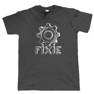 Fixie, Mens Cycling Tshirt