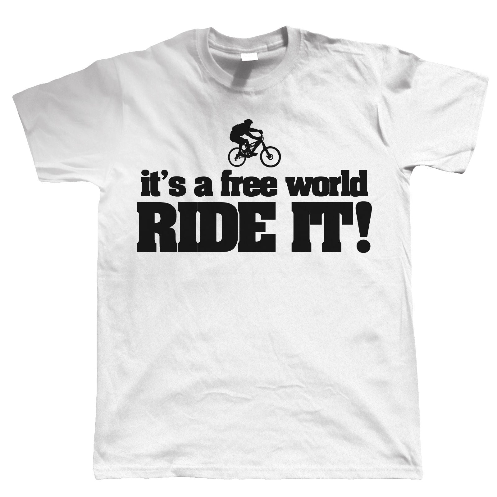 Free World Mountain Bike, Mens Cycling Tshirt