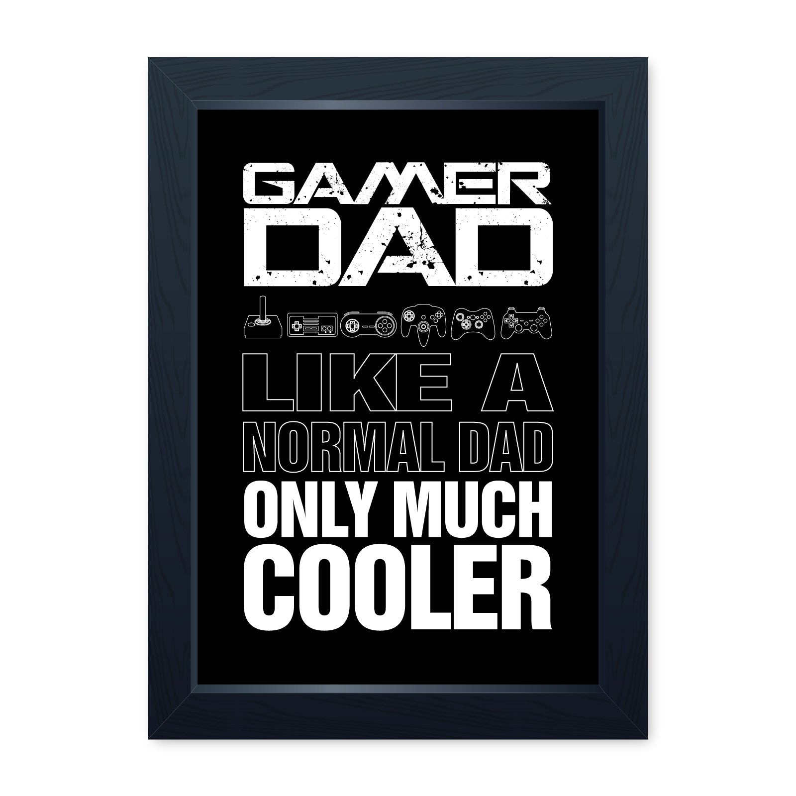 Gamer Dad, Video Game Framed Print - Home Decor Kitchen Bathroom Man Cave Wall Art