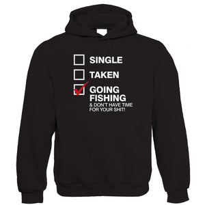 Gone Fishing, Mens Funny Hoodie | Coarse Carp Sea Match Fly Specimen Tackle Fishermen Clothing Angling Angler | Cool Birthday Christmas Gift Present Him Dad Husband Son Grandad