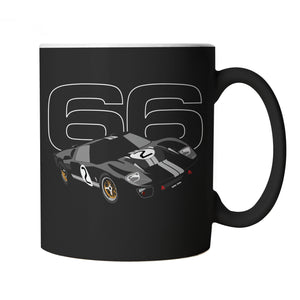 GT40 Mk2 66 Mug | Classic Group B Le Mans Tony Pond Rally Turbo Drag | Limited 240sx 200x 350z Drifting Off Zakspeed RAC | Motoring Cup Gift