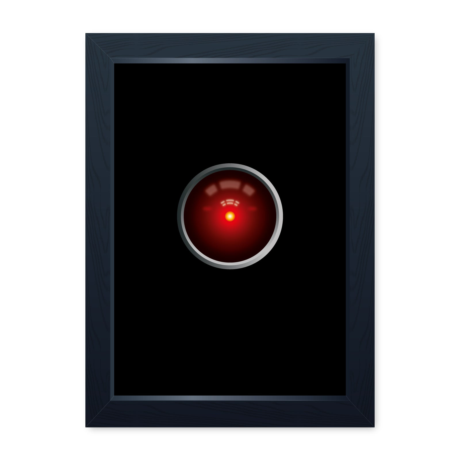 HAL Eye, Sci-Fi Movie Inspired Quality Framed Print - Cinema Room Man Cave Art Wall Art