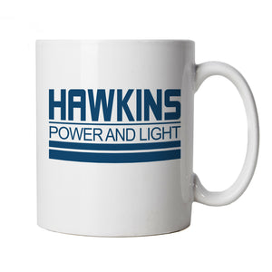 Hawkins Power And Light Mug | Action Adventure Horror Sci-Fi Series Binge Halloween | Upside Down DND 80s Small Town Summer | TV Inspired Cup Gift