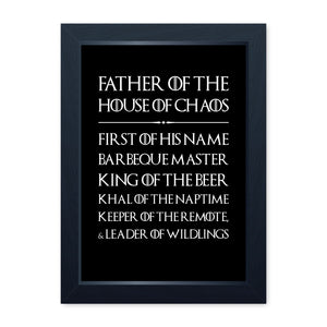 House Of Chaos, Quality Framed Print - Home Decor Kitchen Bathroom Man Cave Wall Art