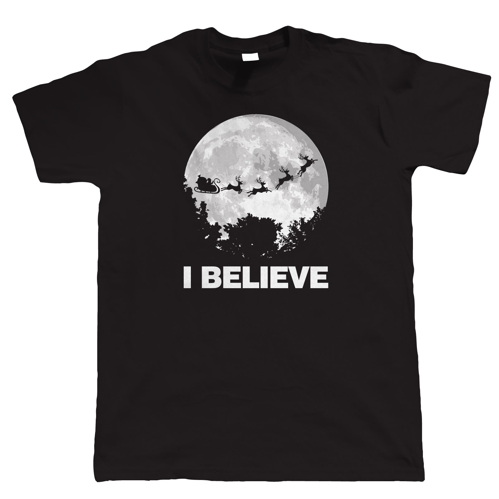 I Believe In Santa, Mens Funny Christmas T-Shirt