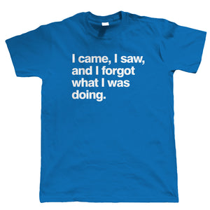 I Came I Saw I Forgot, Mens Funny T Shirt