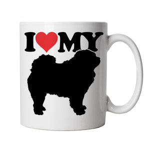 I Love My Chow Chow Mug | Crufts Dog Show Kennel Club Pedigree Breed Puppy | Dog Gift Fur Baby Lover Owner Mans Best Friend | Dogs Cup Gift