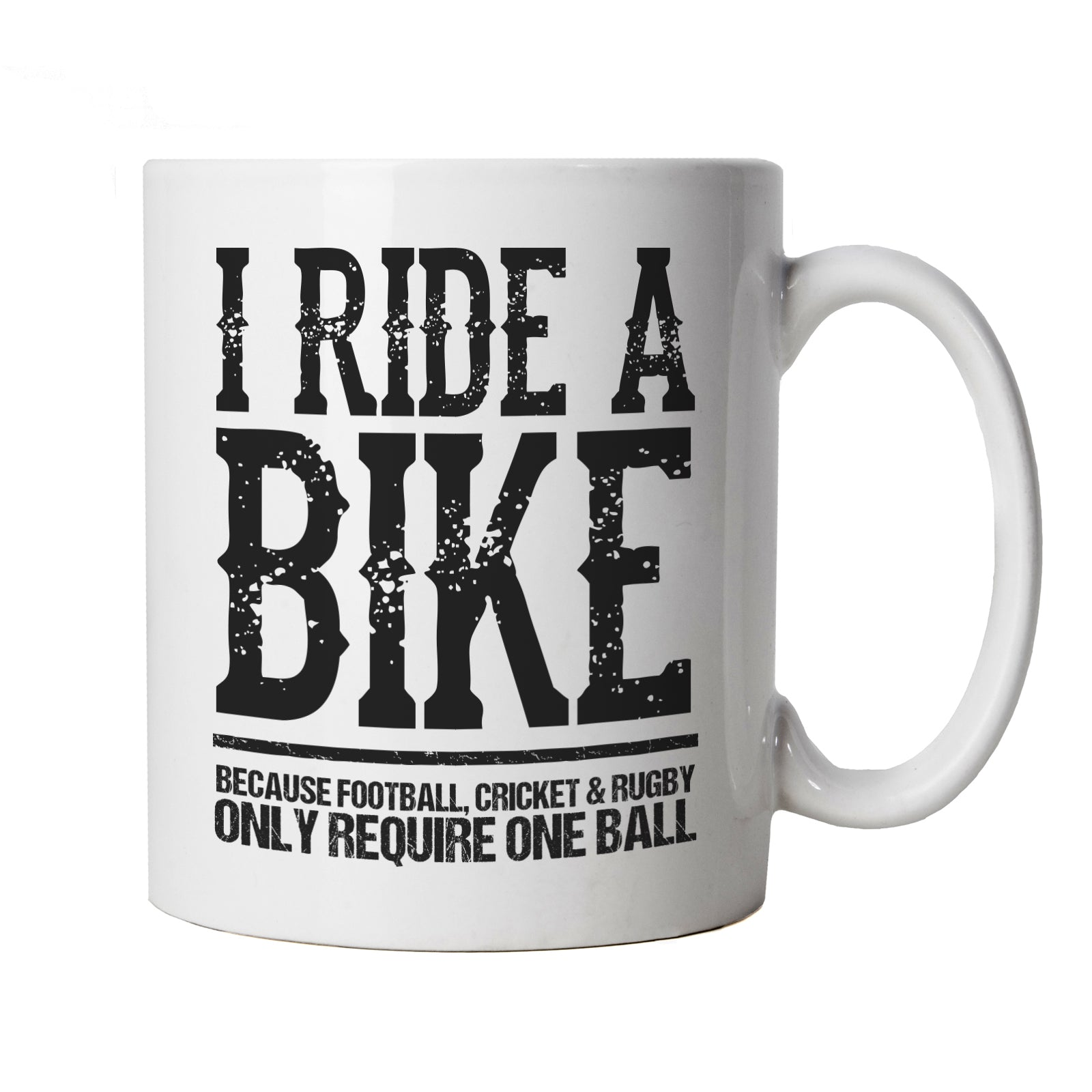 I Ride A-Bike Funny Biker Cycling, Mug | MTB Mountain Bike Downhill Gravel Bike Cylo | Moto-X Dirt Bike Jump Stunt Throttle Lift Big Air | Cycling Motorbikes Cup Gift