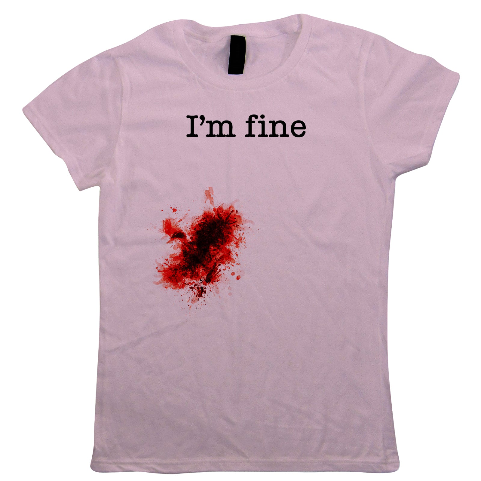 I'm Fine Wound Womens T-Shirts | Zombie Horror Vampire Walking Dead Werewolf | Halloween Fancy Dress Costume Trick Or Treat | Halloween Gift Her Mum