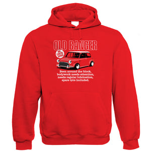 Old Banger, Mens Funny Classic Mini Hoodie