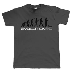 Evolution of RC, Mens Radio Control Buggy Car Racing T Shirt