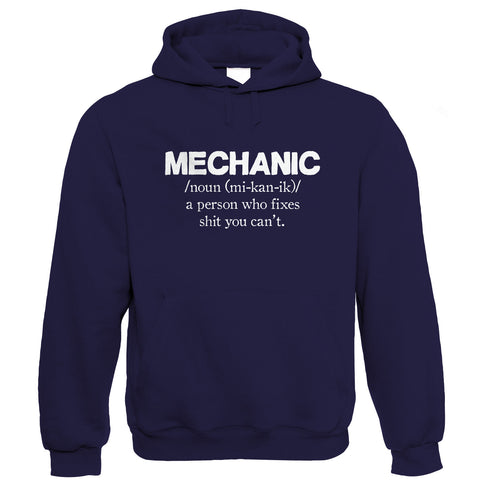 Mechanic, Mens Funny Car Hoodie
