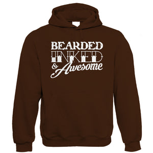 Bearded Inked & Awesome, Mens Hoodie