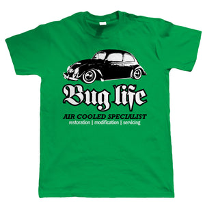 Bug Life, Mens Air Cooled Vee Dub T Shirt