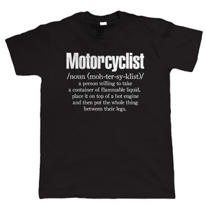 Motorcyclist Definition, Mens Funny Biker T Shirt | Motorbike Enthusiast Motorcycle Club Chopper Cafe Racer Superbike Gentleman Biker | Cool Birthday Christmas Gift Present Him Dad Husband Son