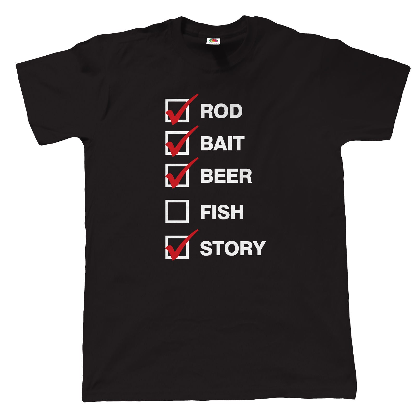 Rod Bait Beer, Mens Funny Fishing T Shirt | Coarse Carp Sea Match Fly Specimen Tackle Fishermen Clothing Angling Angler | Cool Birthday Christmas Gift Present Him Dad Husband Son Grandad