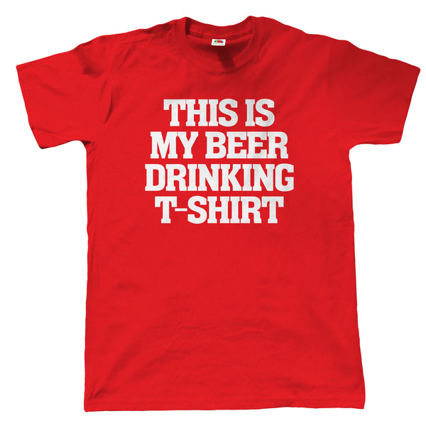 This Is My Beer Drinking T Shirt, Mens Funny TShirt