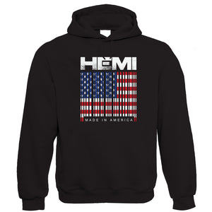 Hemi Barcode, Mens Made In America Hoodie
