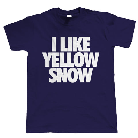 I Like Yellow Snow, Mens Funny TShirt