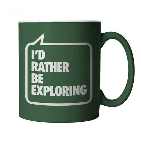 I'd Rather be Exploring Green Mug