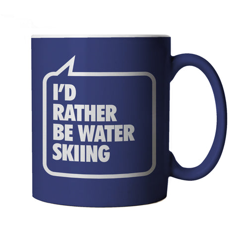 I'd Rather be Water Skiing, Blue Mug