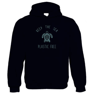 Keep the Sea Plastic Free Hoodie | Positive Thinking Inspirational Save the Turtles | Gift Him Dad Her Mum