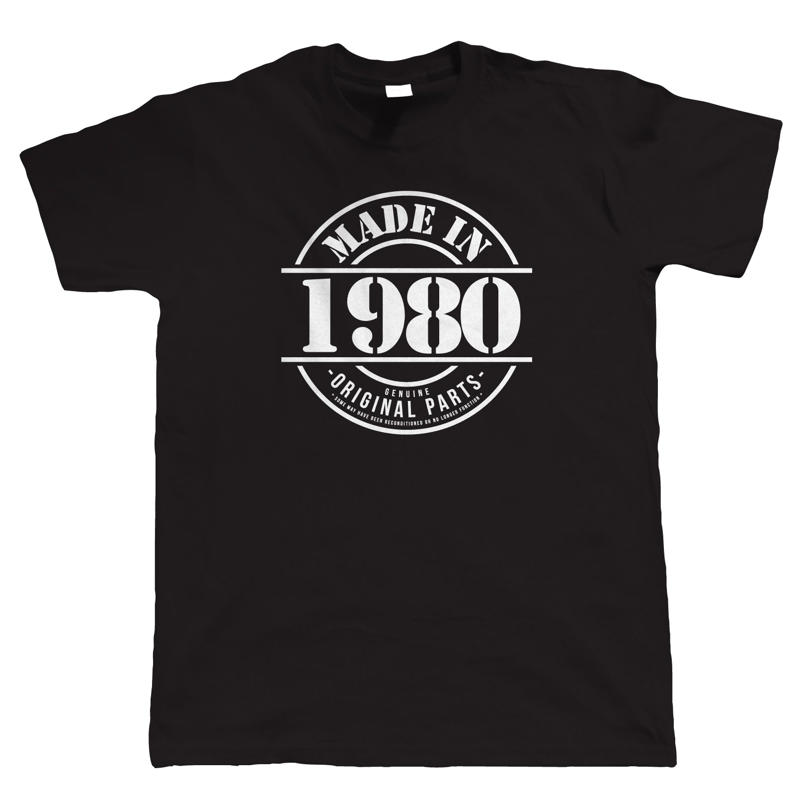 Made in 1980 Mens Funny 40th Birthday T Shirt