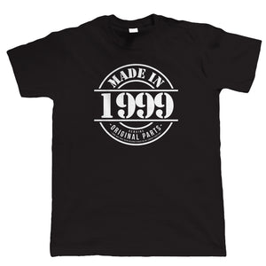 Made in 1999 Mens Funny 21st Birthday T Shirt
