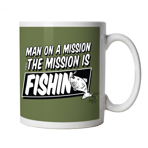 Man On A Mission, Fishing Mug