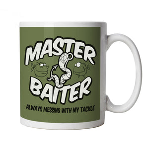 Master Baiter, Funny Fishing Mug | Coarse Carp Sea Match Fly Specimen Tackle Fishermen Clothing Angling Angler | Cool Birthday Christmas Gift Present Him Dad Husband Son