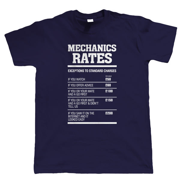 Mechanics Rates Mens Funny T Shirt