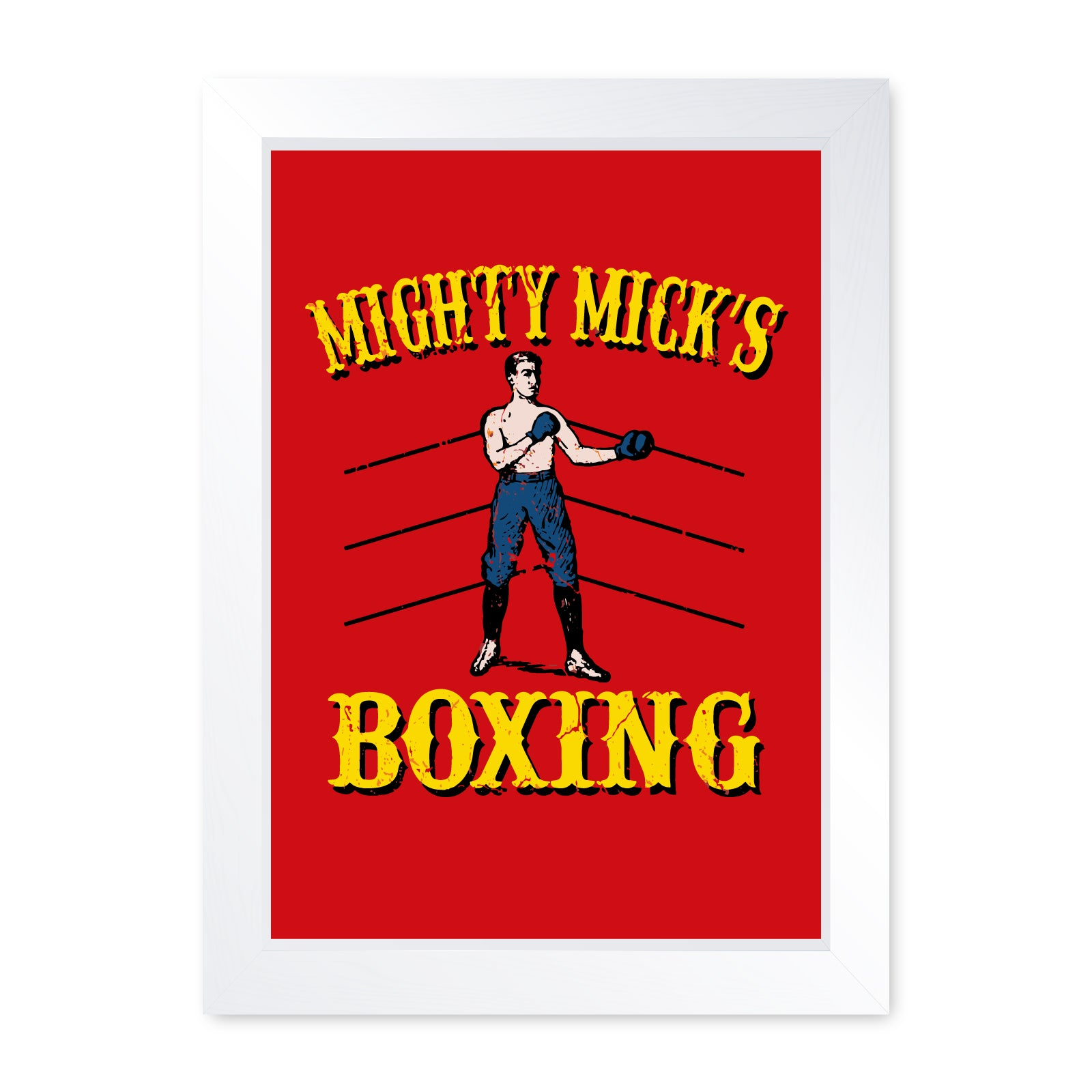 Mighty Micks Boxing Movie Inspired, Quality Framed Print - Wall Art
