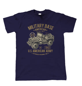 American Army Jeep, Mens T Shirt