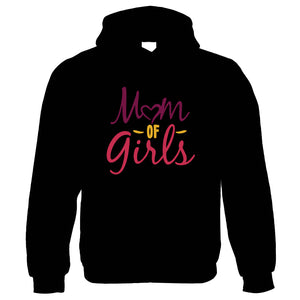 Mom Of Girls, Heart Womens Hoodie | Funny Novelty Perfect Gift Present For Mum Mom Mama Ladies | Mothers Day Birthday Christmas from Daughter Son Grandson