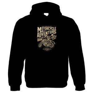 Motorcycle Adventure | Funny Hoodie |Looking Good Old Handsome Biker Classic Racer Race Confidence Motorbike Hoodie