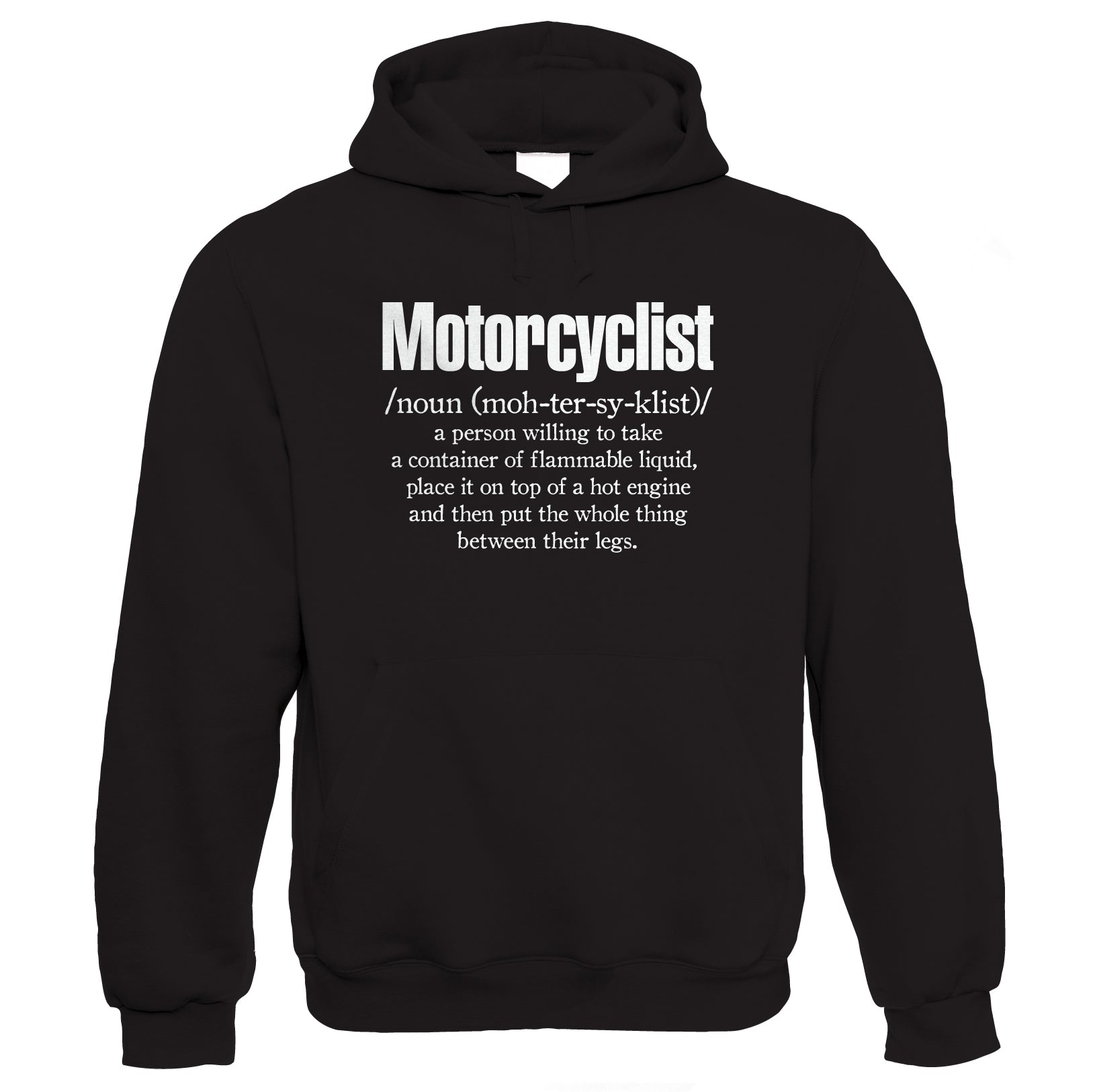 Motorcyclist Definition, Mens Funny Biker Hoodie | Motorbike Enthusiast Motorcycle Club Chopper Cafe Racer Superbike Gentleman Biker | Cool Birthday Christmas Gift Present Him Dad Husband Son