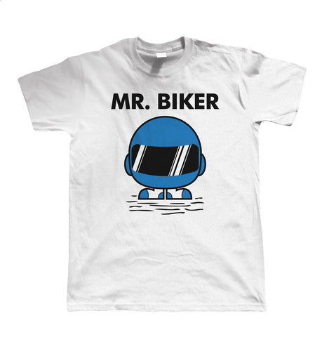 Mr Biker, Mens Funny T Shirt | Motorbike Enthusiast Motorcycle Club Chopper Cafe Racer Superbike Gentleman Biker | Cool Birthday Christmas Gift Present Him Dad Husband Son Brother Uncle Grandad