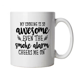 My Cooking Is So Awesome, Mug | Baking Cooking Kitchen Utensils Oven Apron Tray | Star Baker Bake Off Soggy Technical Showstopper | Baking Food Funny Cup Gift