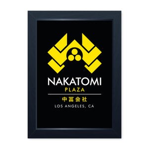 Nakatomi Plaza, Quality Framed Print - Home Decor Kitchen Bathroom Man Cave Wall Art