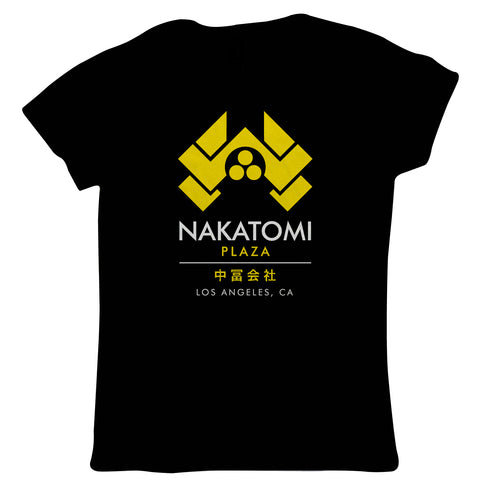 Nakatomi Plaza Womens T-Shirt | 80s Action Movie Inspired Yippee Ki-yay John McClane Hans Gruber | Cool Birthday 1988 Christmas Classic Retro Film Fan | TV&Movie Gift Her Mum