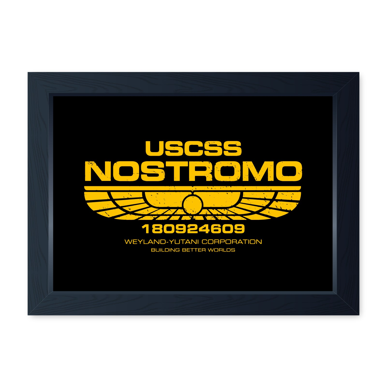 USCSS Nostromo, Quality Framed Movie Print - Kitchen Bathroom Man Cave Art