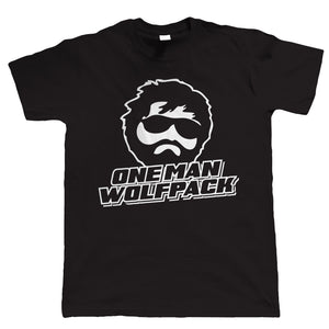 One Man Wolf Pack, Mens Funny Party T Shirt
